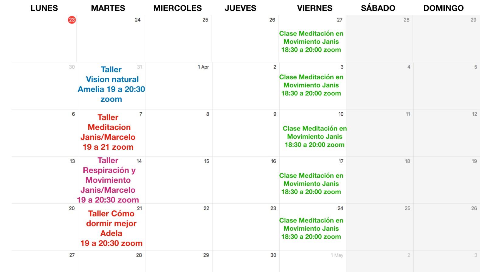 Talleres Online - Centro Quiropráctico Madrid